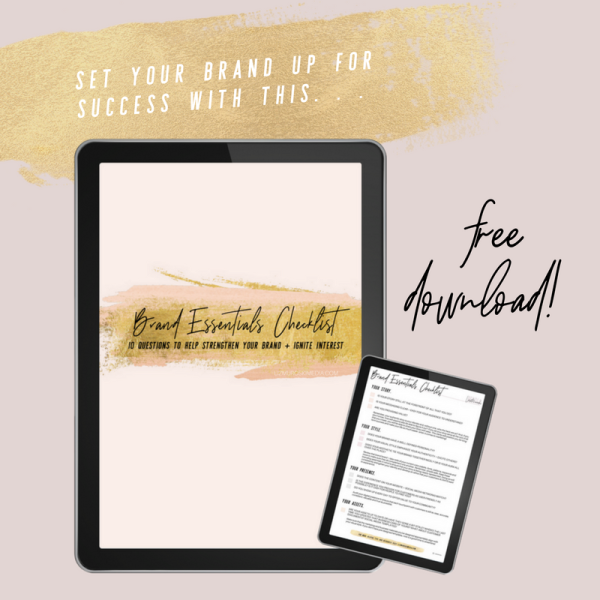 Brand_Essentials_Checklist_2018_Free Fillable for Small Business by Liz Muroski Media